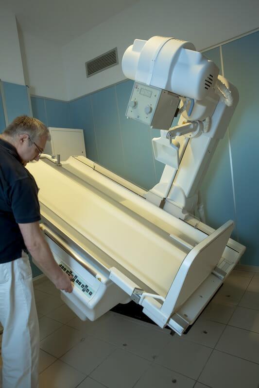 Radiografo in uso