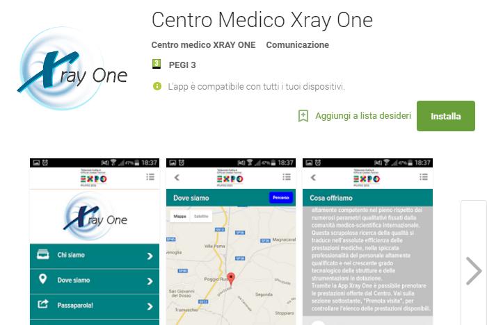 Applicazione-Xray-One-prenotazioni